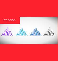 ice berg vector image