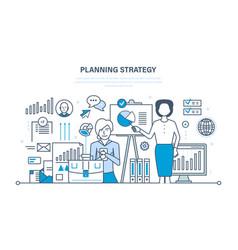 Market research financial analysis management vector