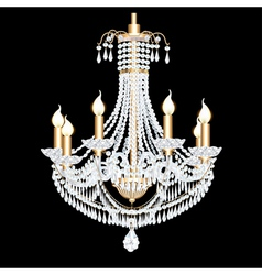 Crystal chandelier vector