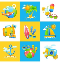 Summer vacation design concept vector