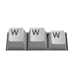 Internet keyboard www vector