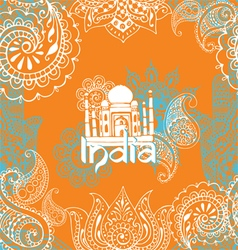 Bright background with indian patterns vector