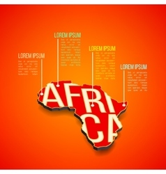 Africa infographics design africa map in vector
