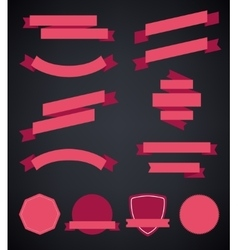 set of colorful empty retro ribbons and vector image