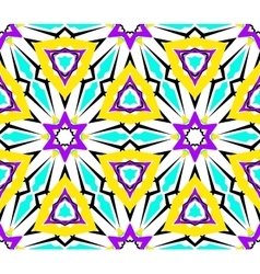 Kaleidoscopic geometric seamless pattern vector