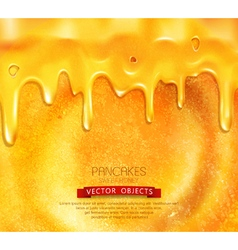 pancake with honey close-up vector image