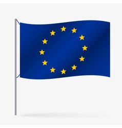 Color european union flag waving style eps10 vector