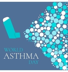 Asthma solidarity day poster vector