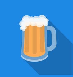 Beer mug icon in flat style isolated on white vector