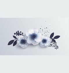 Bouquet anemones flowers vector