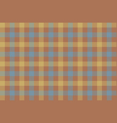 Brown beige blue check fabric texture background vector