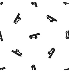 cannon pattern seamless black vector image vector image