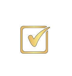 Checklist computer symbol vector image