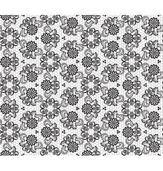 Floral lace seamless pattern vector image vector image