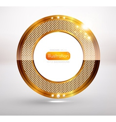 Gold ornament for design vector