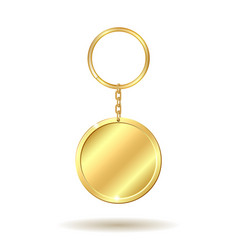 golden keychain circle shape vector image vector image