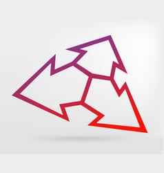 graphic element arrow vector image