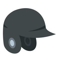 grey baseball helmet icon isolated vector image