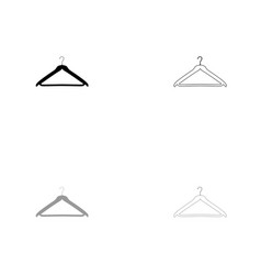 hanger black and grey set icon vector image