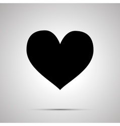 Heart simple black icon vector image vector image