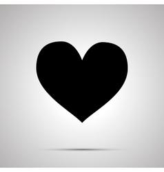 Heart simple black icon vector