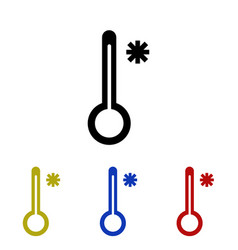 Icon thermometer meaning cold vector