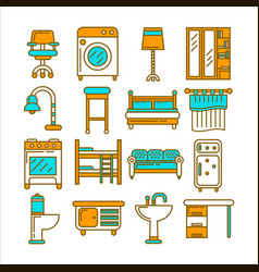 modern comfortable furniture in same colors vector image
