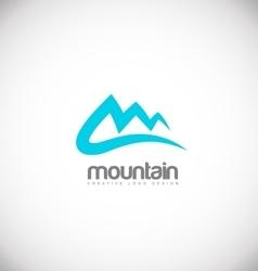 Mountain blue logo icon design vector