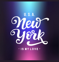 New york is my love vector