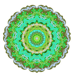 Ornate eastern mandala colorful ornament vector