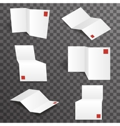 Paper white accordion different points of view vector
