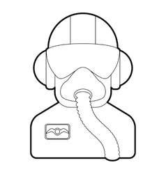 Pilot icon outline style vector