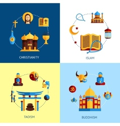 Religion Design Concept Set vector image