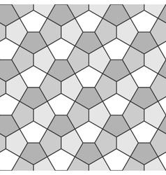 Seamless Geometric Pattern Pentagonal Regular vector image vector image