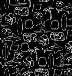 Seamless pattern background tropical surf vector image vector image