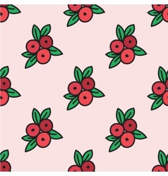 Seamless pattern with cranberry vector image vector image