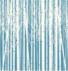Seamless texture with forest of trees vector