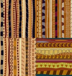Set of color patterns primitive tribal pattern vector