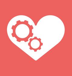 Settings heart settings icon vector