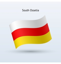 South Ossetia flag waving form vector image vector image