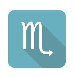Square Scorpio icon vector image