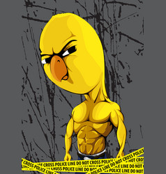 Strong chick vector image vector image