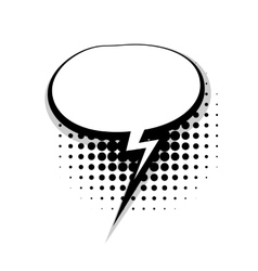 Template comic speech oval lightning bubble vector