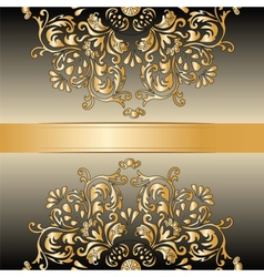 Vintage royal classic ornament border background vector