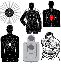 Set of 6 Shooting Targets vector image