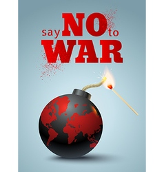 Say no to war bomb vector