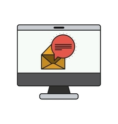 Envelope and computer of communication design vector