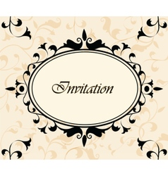Photo frame invitation with ornaments vector image
