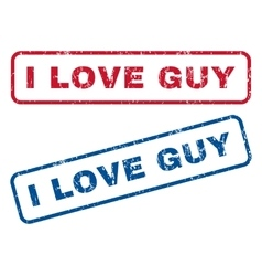 I love guy rubber stamps vector