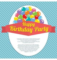 Happy Birthday Party Card vector image